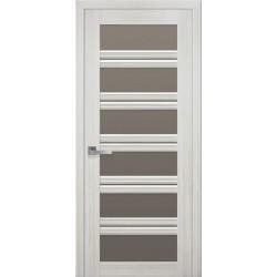 Двері Віченца С2 / Скло бронза / Декор перлина біла / Покриття смарт