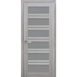 Двері Віченца С2 / Скло графіт / Декор перлина срібна / Покриття смарт