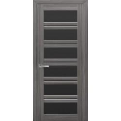 Двері Віченца С2 / Чорне скло / Декор перлина графіт / Покриття смарт