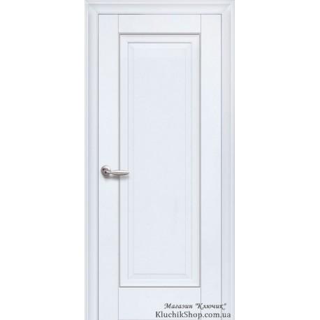 Двері Престиж / Суцільні / Декор білий матовий
