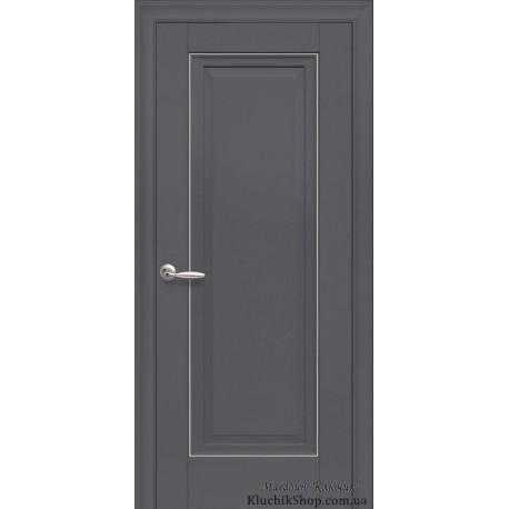 Двері Престиж / Суцільні з молдингом / Декор антрацит
