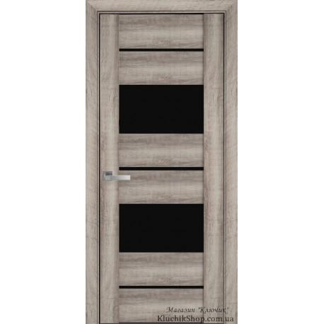 Двері Аскона / Чорне скло / Декор Бук баварський