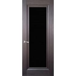 Двері CL-5 ПО / Чорне скло