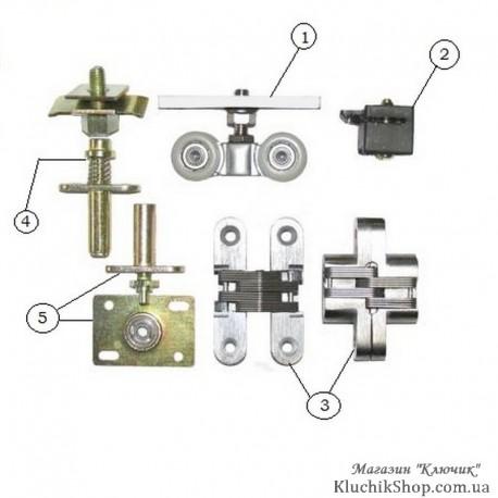 """Ролики системи """"Книжка"""" EKF 120005 (80 кг)"""