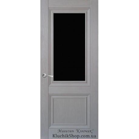Двері CL-1 ПО / Чорне скло