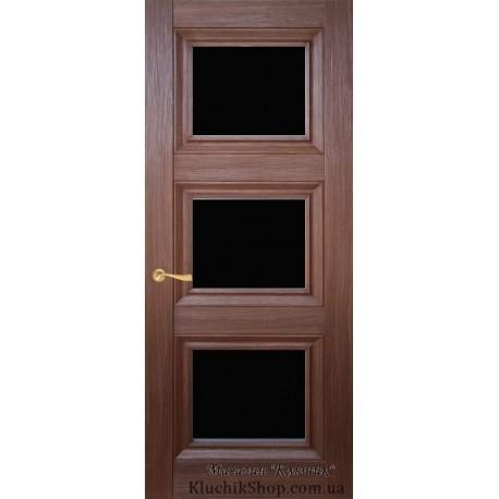 Двері CL-3 ПО / Чорне скло