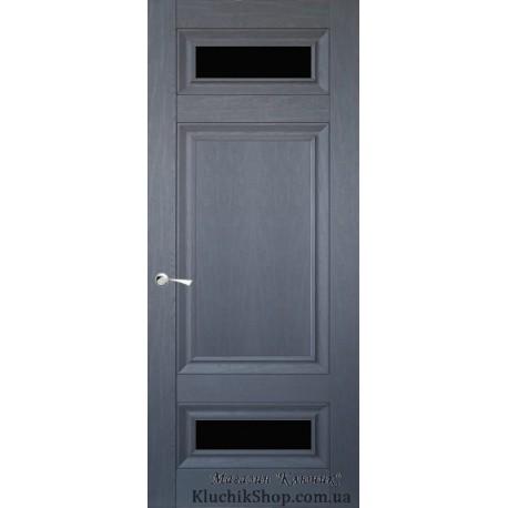 Двері CL-4 ПО-1 / Чорне скло