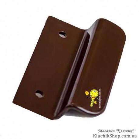 Ручка курця (балконна) коричнева Z-подібна