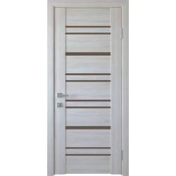 Двері Валенсія / Скло графіт / Декор Ясень New