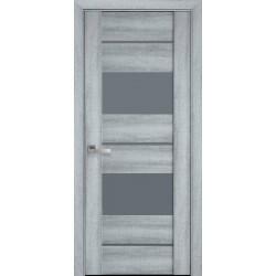 Двері Аскона /  Скло графіт / Декор бук кашемір
