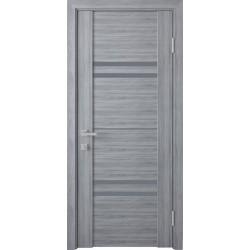 Двері Меріда / Скло графіт / Декор Бук кашемір