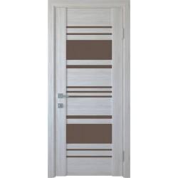 Двері Ніцца / Скло графіт / Декор Ясень New