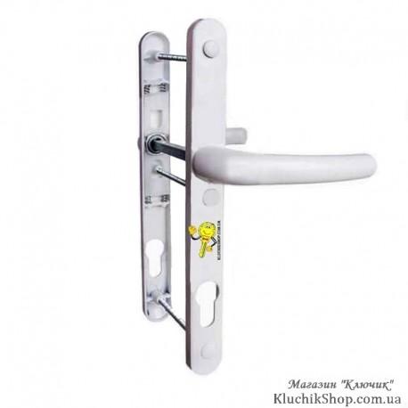 Ручка дверна Standart закруглена біла 85 мм